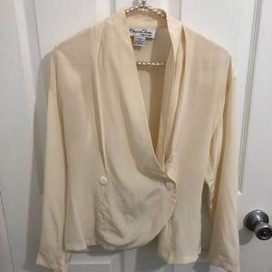 Vintage Oscar de la Renta silk blouse. Medium